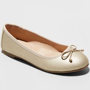 NWT Girls' Stacy Ballet Flats - Cat & Jack